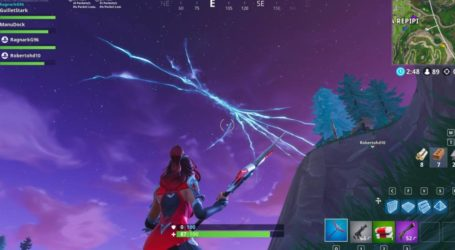 ¡Se quebró! El cielo de Fortnite se rompió tras un estallido de un cohete