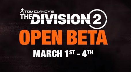 Beta abierta de The Division 2 – revelan su contenido en un tráiler